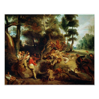 The Wild Boar Hunt Poster