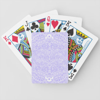 The wild lilac floral vines bicycle playing cards