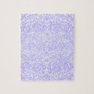 The wild lilac floral vines jigsaw puzzle