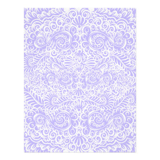 The wild lilac floral vines letterhead