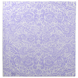 The wild lilac floral vines napkin