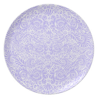 The wild lilac floral vines plate