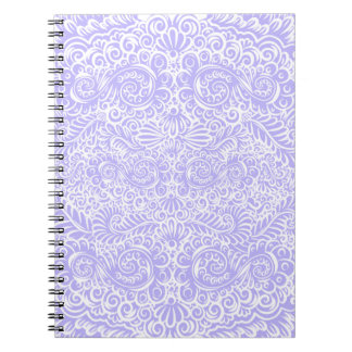 The wild lilac floral vines spiral notebook