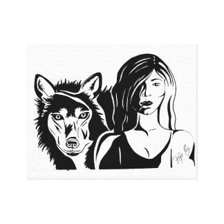 The wild one, pen and ink by KylaCher studio Canvas Print
