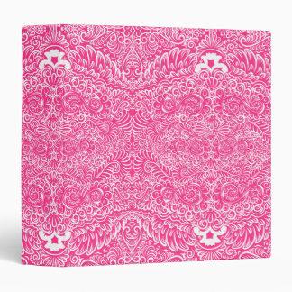 The wild pink floral vines binders