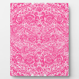 The wild pink floral vines plaque