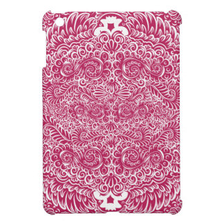 The wild red  floral vines iPad mini cover