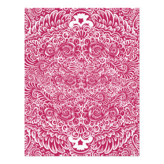 The wild red  floral vines letterhead