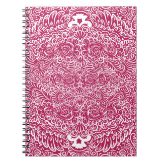 The wild red  floral vines notebooks