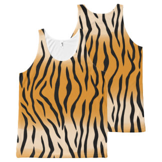 The Wild Tiger Stripes All-Over-Print Tank Top