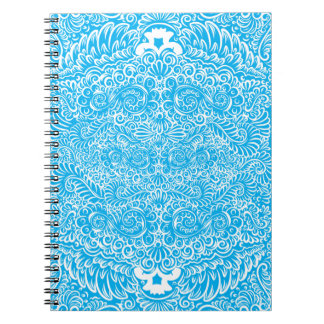 The wild turquoise floral vines notebooks