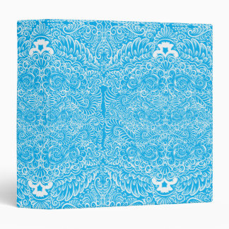The wild turquoise floral vines vinyl binder
