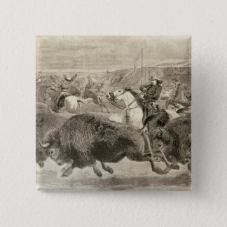 The 'Wild West' at the Great American 2 Inch Square Button