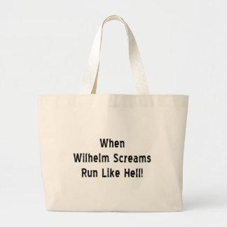 The Wilhelm Scream Large Tote Bag