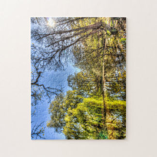 The Willow Tree Pond Jigsaw Puzzle
