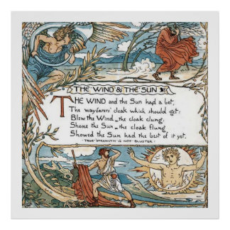 The Wind and the Sun Poster