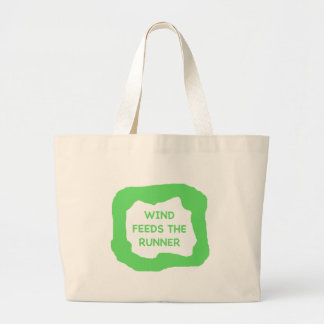 The wind feeds the runner .png jumbo tote bag