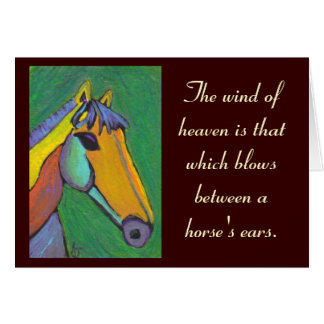 The wind of heaven... - greeting card