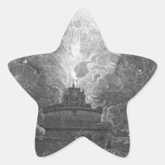 The Windmill at Castel S. Angelo, design... Star Sticker