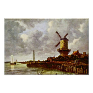 The Windmill At Wijk Bij Duurstede [1]. By Jacob I Poster