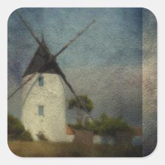 The Windmill Square Sticker