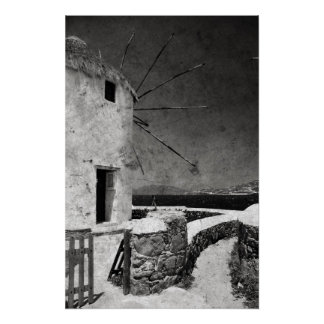 The windmills of Mykonos 3 - Poster