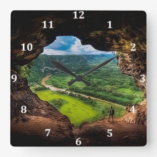 The Window Cave, Puerto Rico Wall Clock
