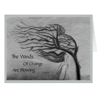 The Winds of Change - Blank Inside - Card