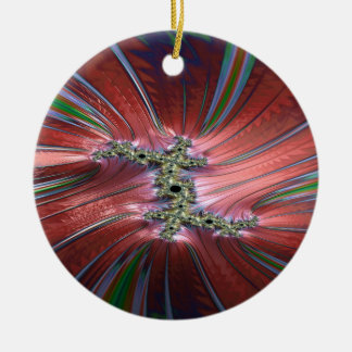 The winds of lost time fractal ceramic ornament