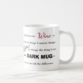 The Wine/Coffee Serenity Prayer - Mug