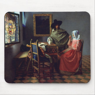 The Wine Glass, Jan Vermeer Mouse Pad