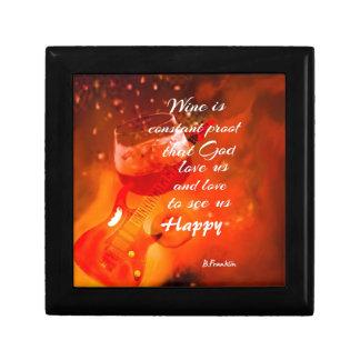 The wine makes us happy gift box