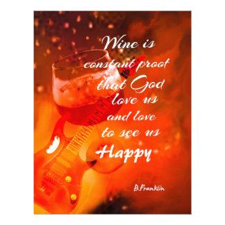 The wine makes us happy letterhead