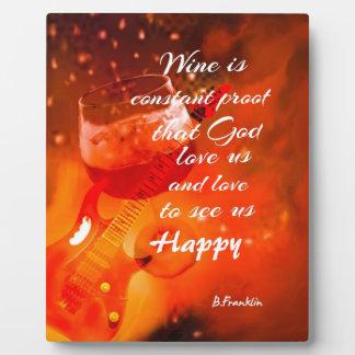 The wine makes us happy plaque