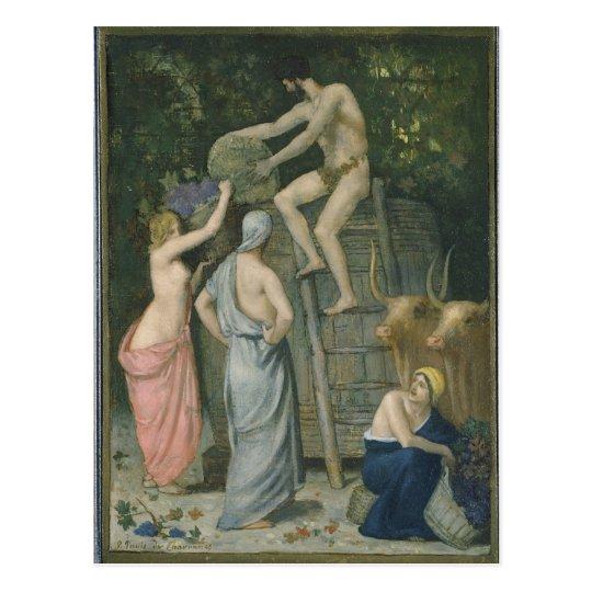 The Wine Press by Pierre Puvis de Chavannes Postcard