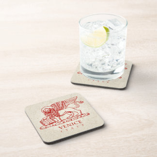 The Winged Venetian Lion Coasters