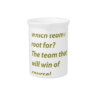The winning supporter drink pitcher