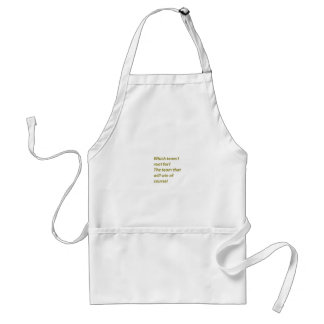 The winning supporter standard apron