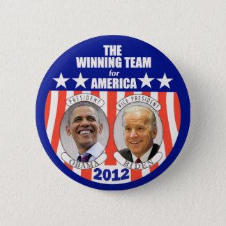 The Winning Team for America: Obama & Biden 2 Inch Round Button
