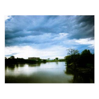 The Winnipeg Red River Lomo Styled Postcard