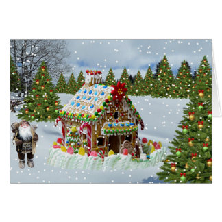 The Winter Christmas Gingerbread House Card