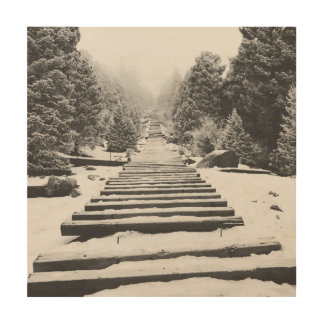 The Winter Incline Wood Print