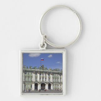 The Winter Palace, St Petersburg, Russia (RF) Silver-Colored Square Keychain