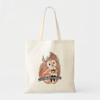 The Winter: Squirrel's Holiday Illustration Tote Bag