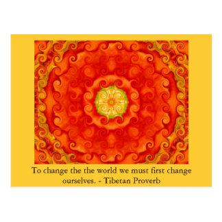The wisdom of Tibet  PROVERB Postcard