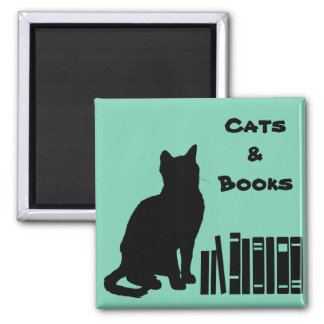 The Wise Cat Magnet - Cats & Books
