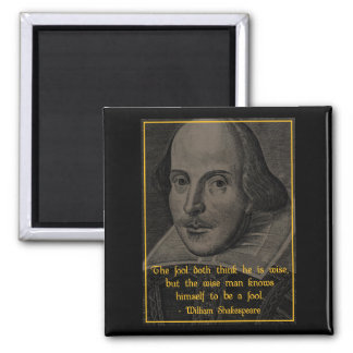 'The wise man' Shakespeare Quote Magnet