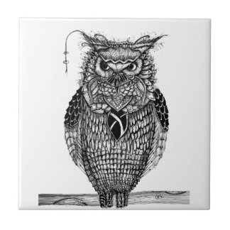 The wise owl tile