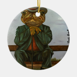 The Wise Toad Ceramic Ornament