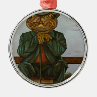 The Wise Toad Metal Ornament